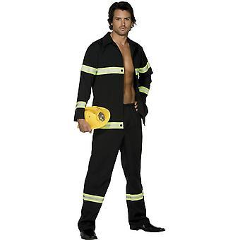 """Láz Fireman jelmez, mellkas 42 """"-44"""", láb inseam 33 """""""