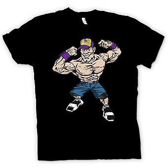 Mens टी शर्ट-जॉन Cena कार्टून-कूल कुश्ती