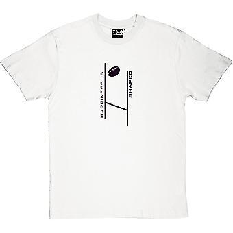 Lycka är Rugby formade mäns T-Shirt