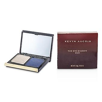 Kevyn Aucoin The Eye Shadow Duo - # 206 Taupe Shimmer/ Blackened Blue Shimmer - 4.8g/0.16oz