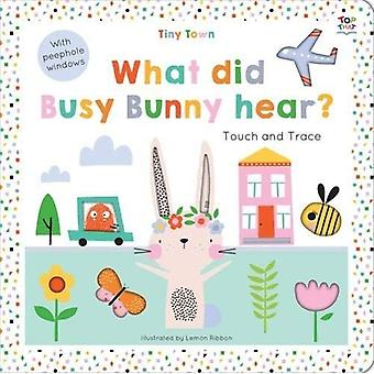 Tiny Town What did Busy Bunny hear? (Tiny Town Touch and Trace) [Board book]