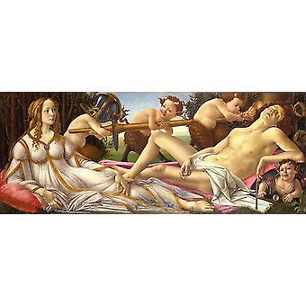 Vénus et Mars, Sandro Botticelli, 80x32cm