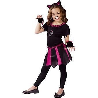 Frække kat barn kostume