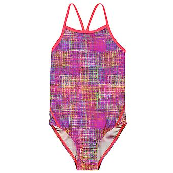 SLAZENGER crianças limite traseiro traje de natação Junior meninas padrão de cintas de espaguete