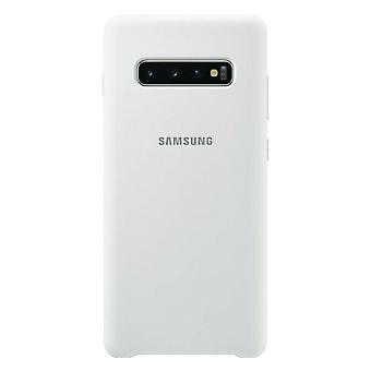 Samsung silicone cover white for Samsung Galaxy S10 plus G975F EF-PG975TWEGWW bag case protective cover
