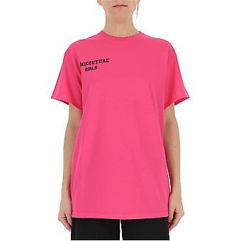 Semi-couture Y9pj10sc112 Women's Fuchsia Cotton T-shirt
