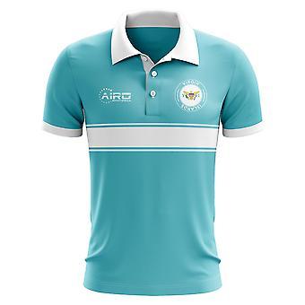 Jungferninseln US-Konzept-Streifen-Polo-Shirt (Sky)