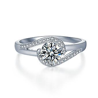 925 Sterling Silver Embrace Love And Hug Engagement Ring