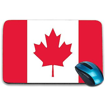 i-Tronixs - Canada Flag Printed Design Non-Slip Rectangular Mouse Mat for Office / Home / Gaming - 0032