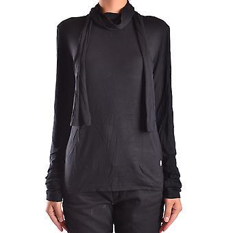 Frankie Morello Ezbc167058 Women's Black Cotton Sweater