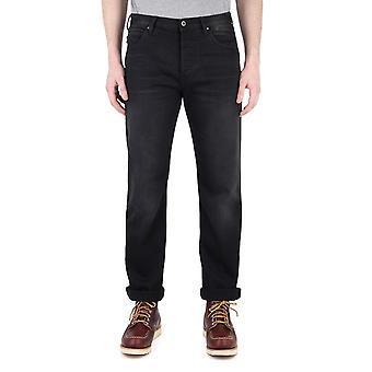 Emporio Armani J21 zwarte tonale Stitch Regular Fit Jeans
