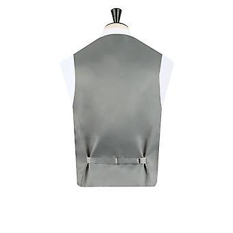 Dobell Mens Silver Paisley Waistcoat Regular Fit 5 Button Wedding