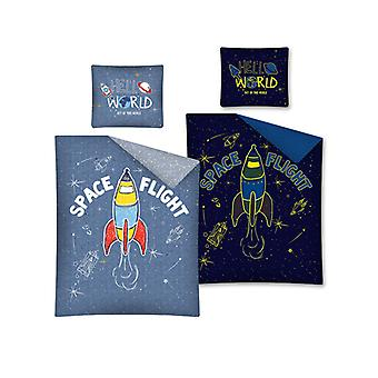 Space Flight Glow in the Dark Single Cotton Duvet Cover Cover Set