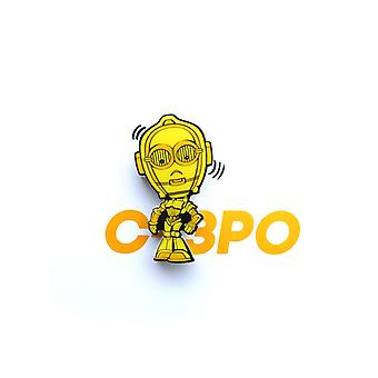 Star Wars mini 3D LED væg lys C-3PO
