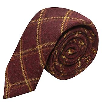 Erfgoed warme rode Check Tie, Tweed