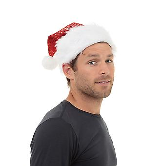 Bristol Novità Unisex Adulti Paillettes Cappello di Babbo Natale