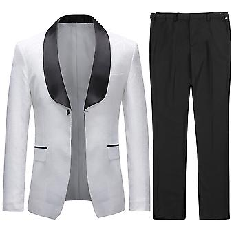 Allthemen Men's Tuxedos 2-Pieces Wedding Suit Dress Shawl Collar Blazer&Pants