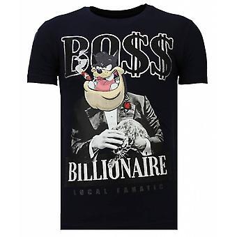 Billionaire Boss - Rhinestone T-shirt - Navy