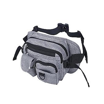 Waist bag with many compartments-grey