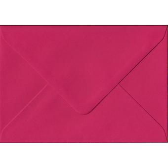 Fuchsia Pink Gummed Greeting Card Coloured Pink Envelopes. 100gsm FSC Sustainable Paper. 125mm x 175mm. Banker Style Envelope.