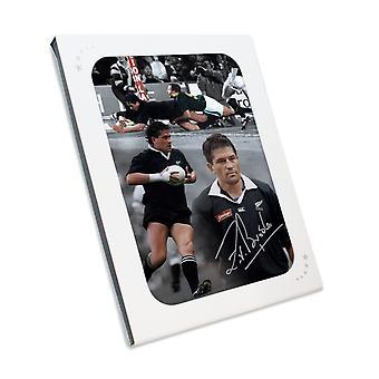 Zinzan Brooke unterzeichnet New Zealand All Blacks Rugby Foto In Geschenkbox
