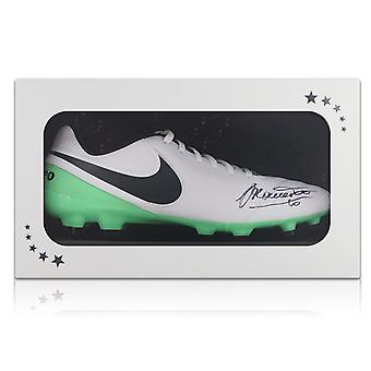 Francesco Totti Signed Tiempo Football Boot In Gift Box