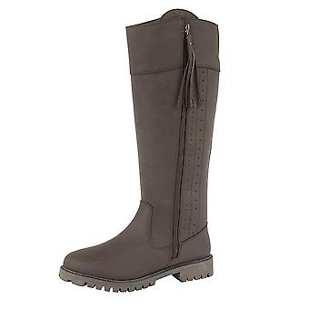 Woodland Womens/Ladies Bailey Waxy Leather Country Boot