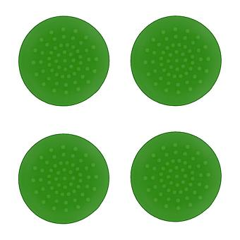 Tpu analogue thumb grip stick concave covers caps for xbox 360 - 4 pack green