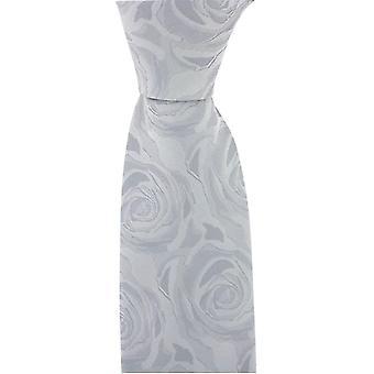 David Van Hagen matrimonio cravatta di seta rosa - argento