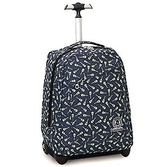 Trolley Invicta - Strong - Blue - 35 Lt - 2in1 Backpack with retractable shoulder pads - School & Travel