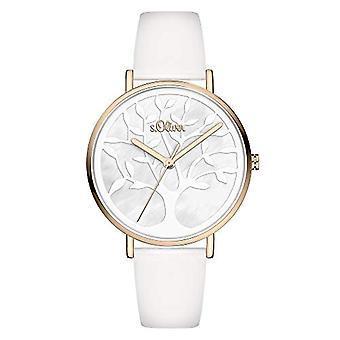 s.Oliver Quartz Women's Analog Clock with SO-3870-LQ Leather Belt