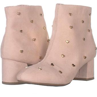 Bar III Womens Jadine Fabric Almond Toe Ankle Fashion Boots