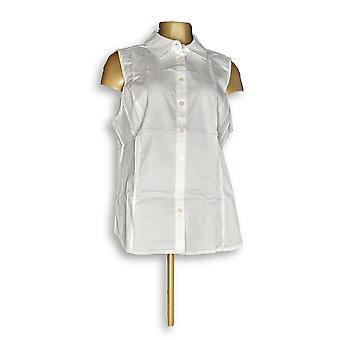 Joan Rivers Classics Coll mulheres ' s Top slvlss botão frente branco A303952
