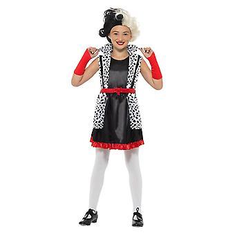 Mädchen böse kleine Madame Fantasie-Kostüm