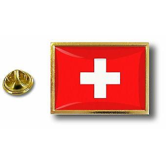 باين بينس شارة دبوس أبوس؛ معدن مع السويسري السويسري السويسري العلم الفراشة قرصة