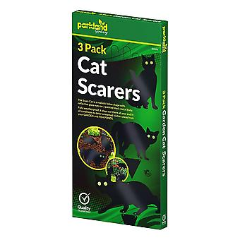 Parkland Pack of 3 Metal Cat (Bird, Animal, Fox, Pest) Scarers, Repeller Deterrent