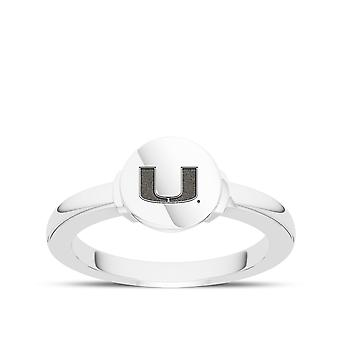 University Of Miami Engraved Sterling Silver Signet Ring