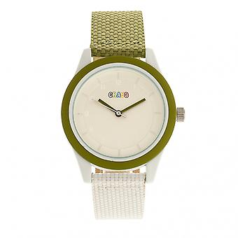 Crayo Pleasant Unisex Watch - Olive/White