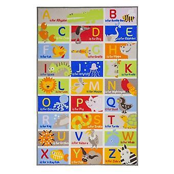 Kiddy Play Alphabet Rug - Rectangular - Multicolour