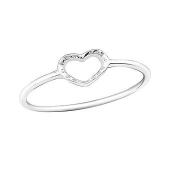 Heart - 925 Sterling Silver Plain Rings - W20513X