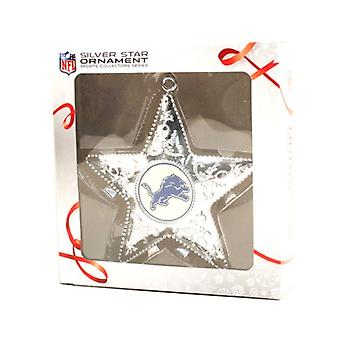 Detroit Lions NFL Sports Collectors Series Silver Star Ornament