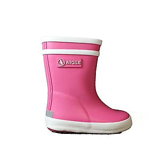 Aigle Baby Flac Pink Rubber Wellington Boots