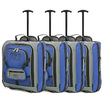 Minimax (45x35x20cm) childrens luggage carry on suitcase with backpack and pouch (x4 set)