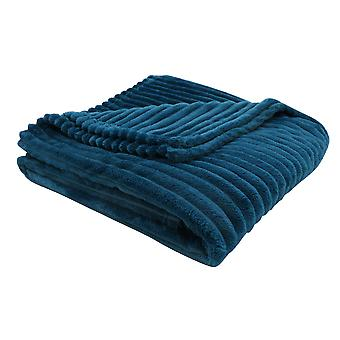 """50"""" x 60"""" Blue, Ultra Soft Ribbed Style - Throw"""
