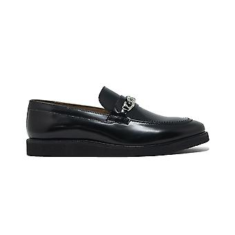 Walk london mens del chain loafers in black leather