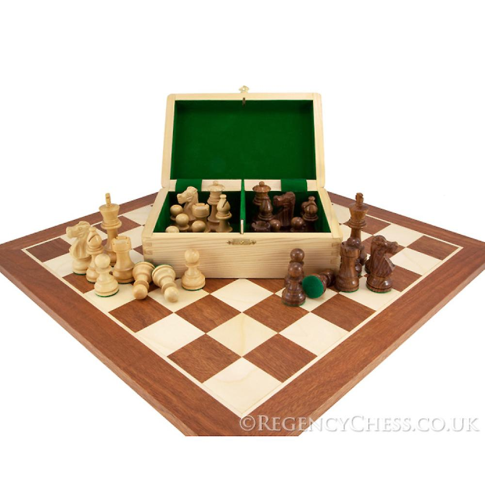 French Knight Sheesham Mahogany Chess Set