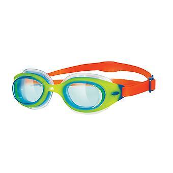 Zoggs Sonic Air Junior simma Goggle - tonade lins - Grön/Orange ram