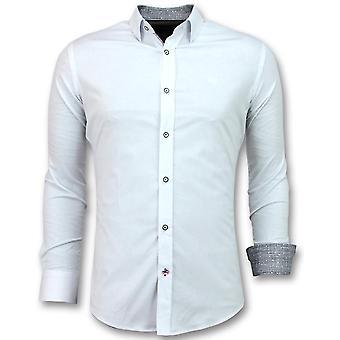 E - Slim Fit Shirts - White