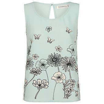 Sugarhill Boutique Women's Abbie Border Floral Shell Top
