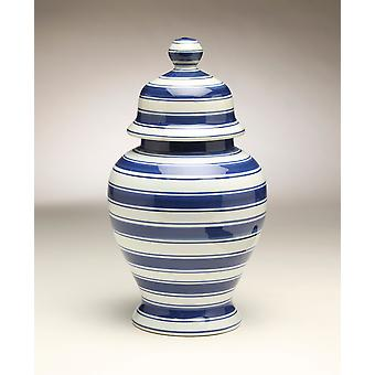AA Importing 59960 Blue & White Ginger Jar